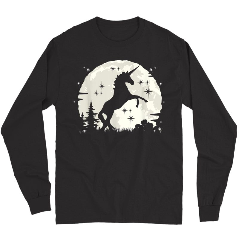 Funny Unicorn Clothing & Unicorn Apparel - Cute Unicorn T-shirt Long Sleeve T-shirt